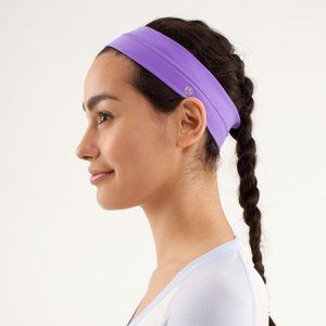 Lululemon Fly Away Tamer Headband Power Purple